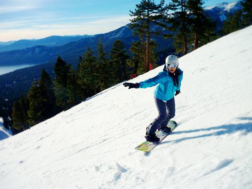 Snowboarding in Lake Tahoe