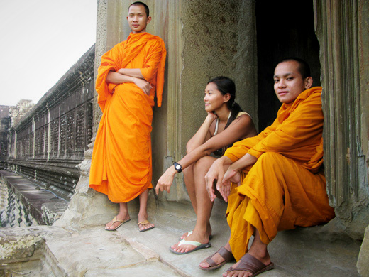 Taking it all in at Angkor Wat, Cambodia