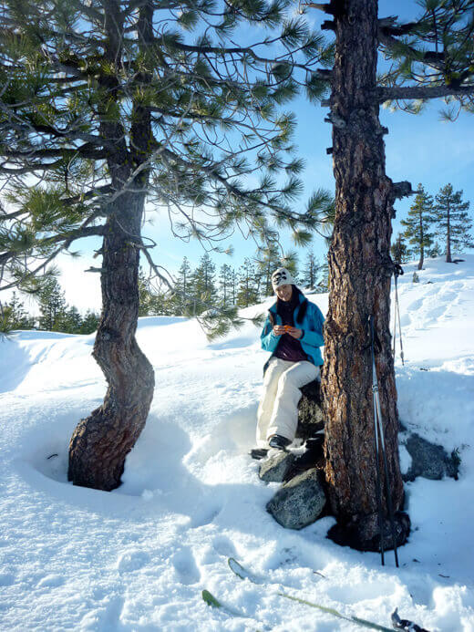 Cross-country skiing at Spicer Meadow