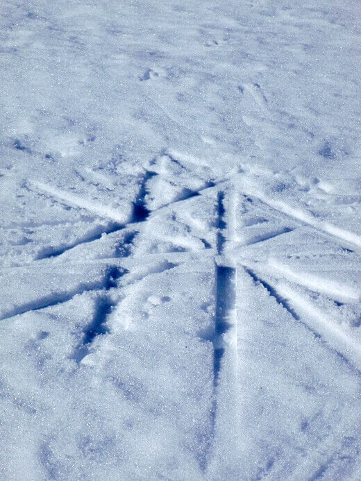 Cross-country skiing at Prosser Meadows