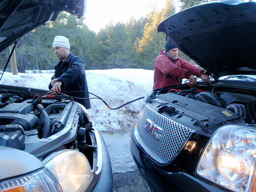 Car trouble in Tahoe