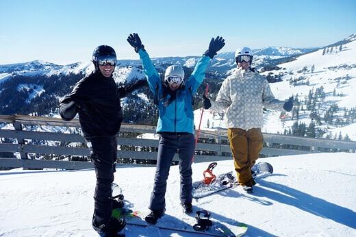 Snowboarding at Squaw