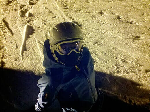 Night skiing at Squaw