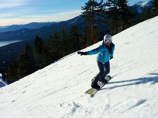 Snowboarding at Diamond Peak