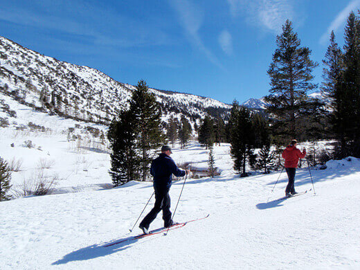 Cross-country skiing at Rock Creek
