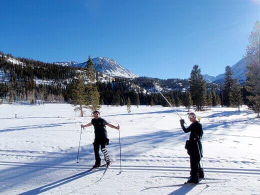 Cross-country skiing at Rock Creek