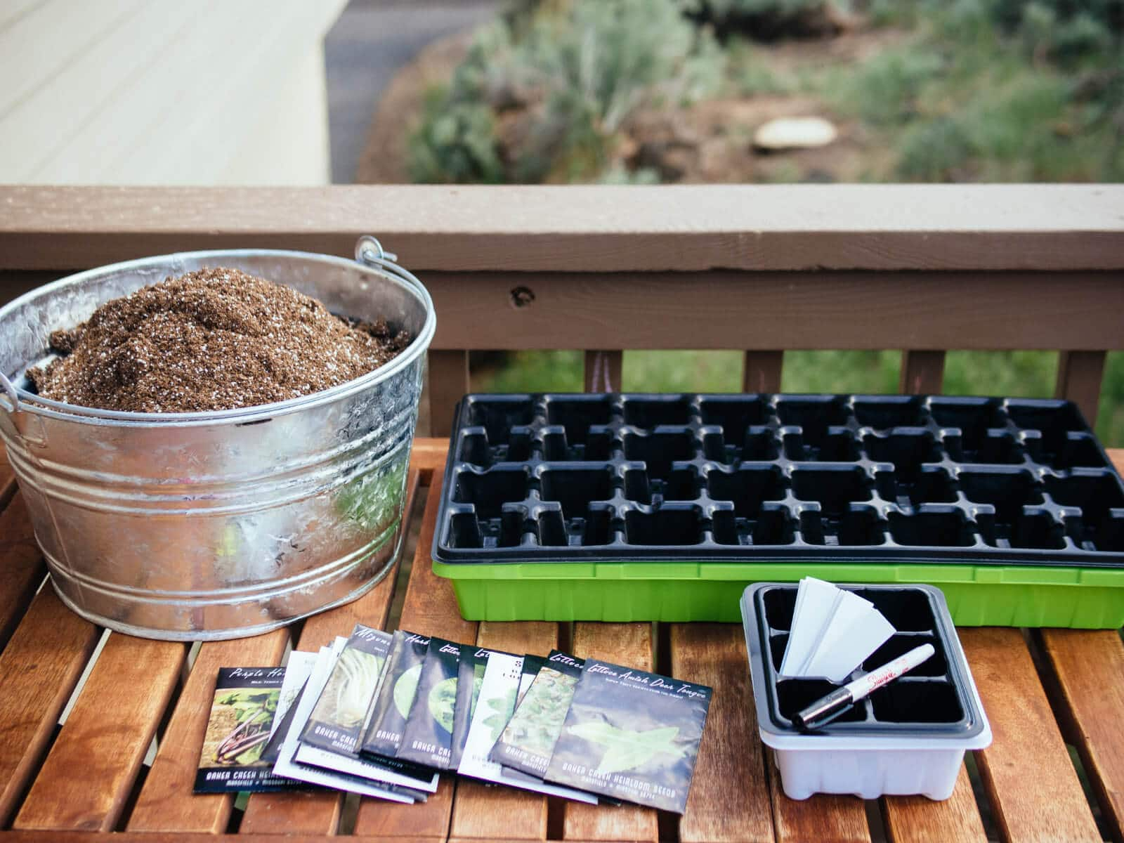 Gather all of your seed starting supplies