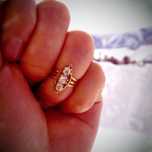 Vintage heirloom ring from his family