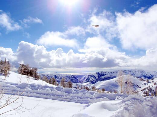 Blue sky over the Ogden Valley