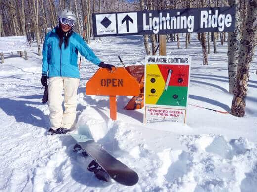 Waiting for the snowcat ride up to Lightning Ridge