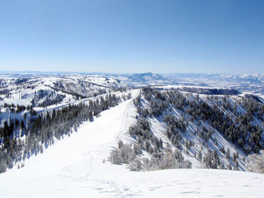 View of Powder Mountain from the hike