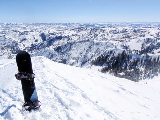 View of Powder Mountain from James Peak