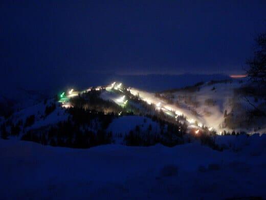 Night skiing on Sundown Ridge