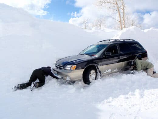 Digging out the car