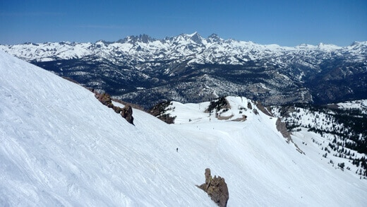 """Mammoth Mountain on a """"spring"""" day in June"""