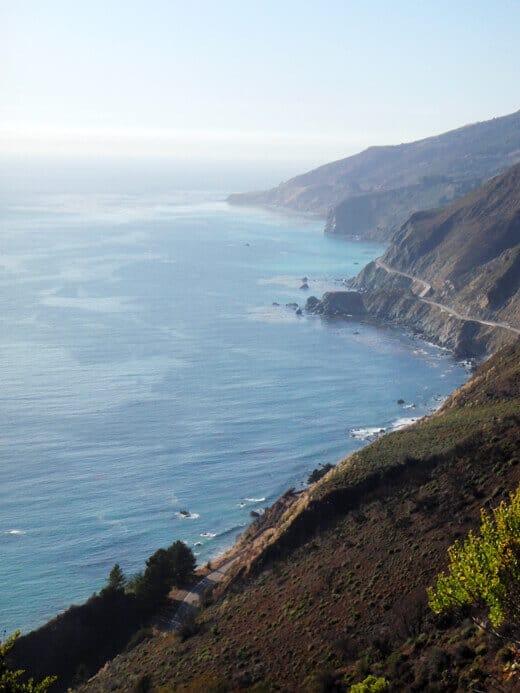 Highway 1 hugging the cliffs of Big Sur