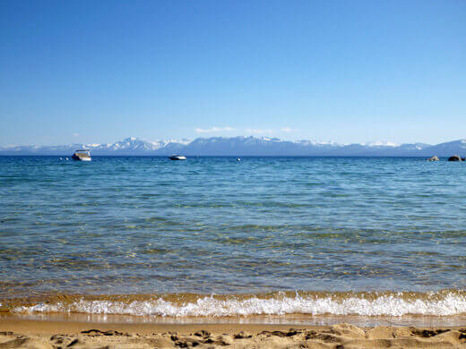 A hot summer day on Lake Tahoe