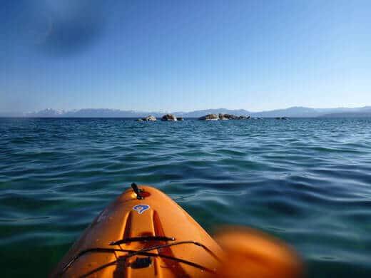 Paddling around Lake Tahoe