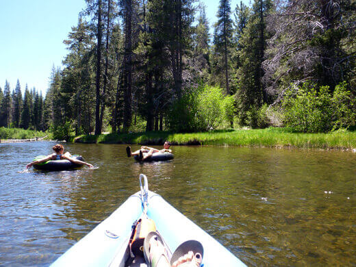 Deceptively calm section of the Truckee River