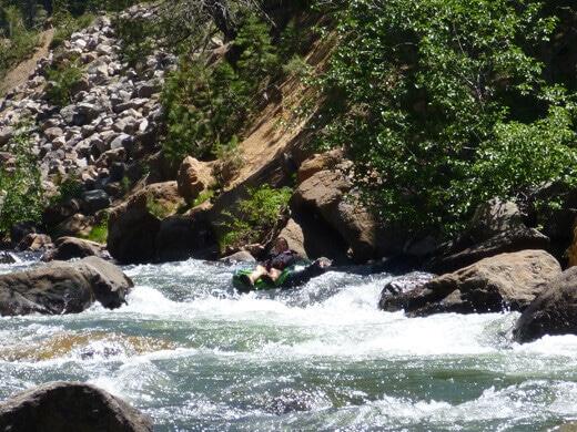 Class II rapids with Class III hazards on the Truckee River