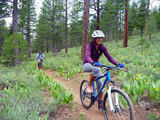 Pedaling 8 miles along the Commemorative Emigrant Trail
