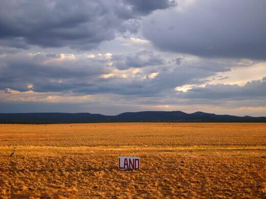 Wide open land in the Arizona high desert