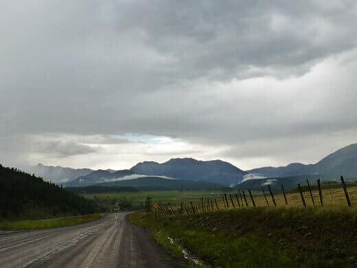 Rainy day drive through the Piedra Wilderness