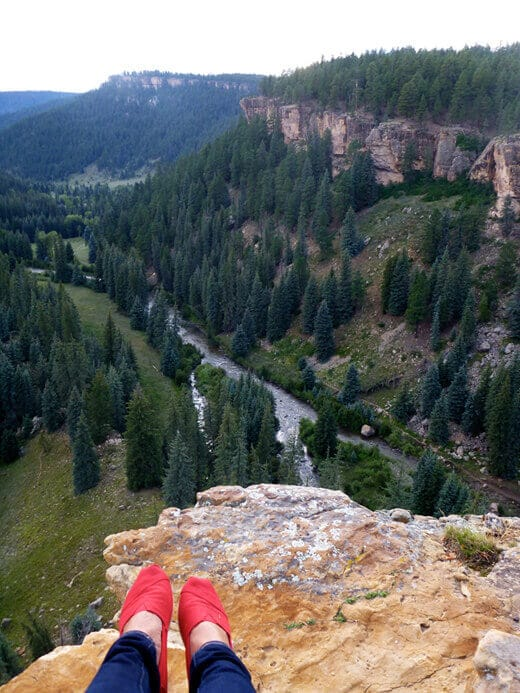 Overlooking the Piedra River Canyon