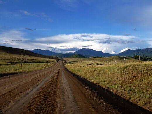 Endless dirt roads