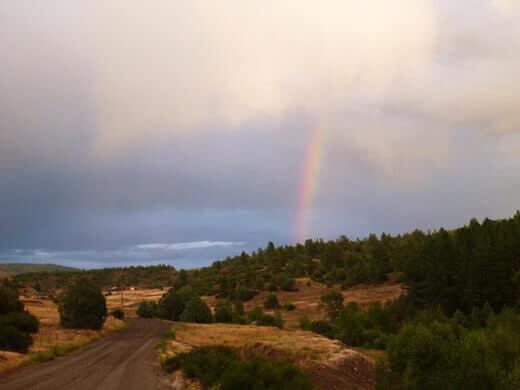 Rainbow over the Piedra Wilderness