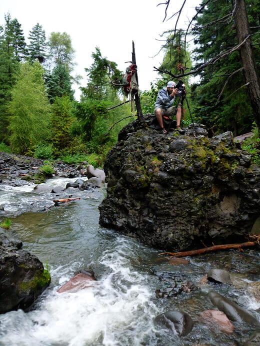 Photographing Piedra Falls