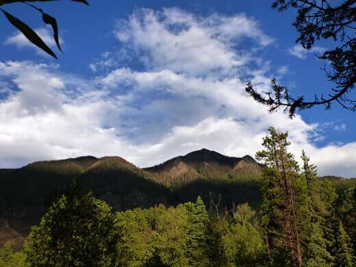 Mountain range in the Piedra Wilderness