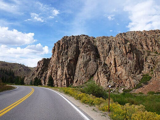 Dramatic rock formations in Gunnison
