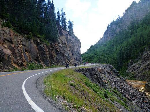 The Million Dollar Highway in Colorado