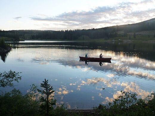 Canoeing on Molas Lake