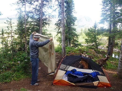 Camping at Molas Lake