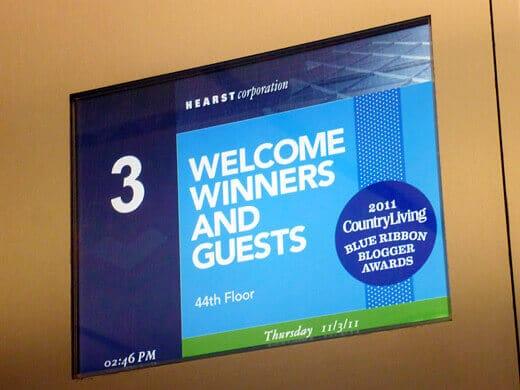 Elevator greeting