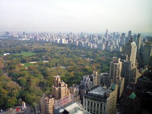 Central Park and the Manhattan skyline