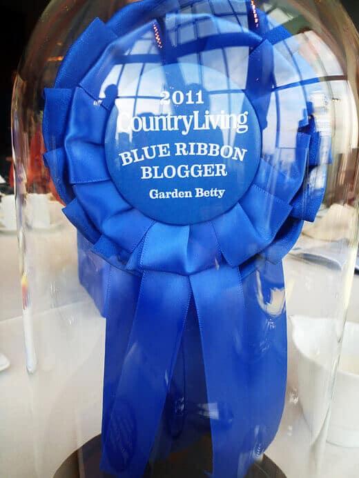 First Annual Blue Ribbon Blogger Award winner Garden Betty