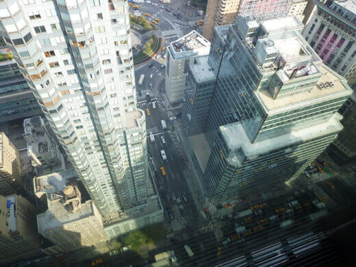 Looking down over the streets of Manhattan