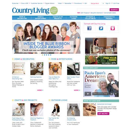 Garden Betty featured on front of Country Living website