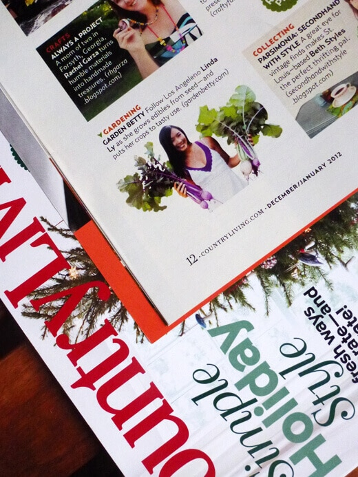 Garden Betty featured in County Living magazine