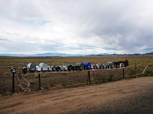 Mailboxes in La Garita, Colorado