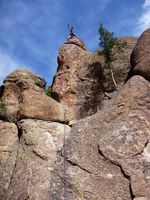 Leading Captain America in Penitente Canyon