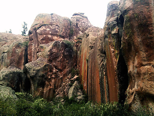Climbing on Fish Canyon Tuff in Penitente Canyon
