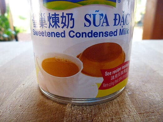 Sweetened condensed milk from an Asian market