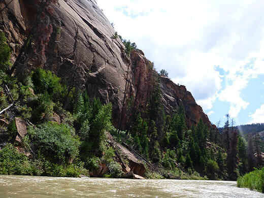 Chama Canyon rising 1,500 feet above the Rio Chama