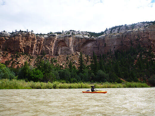 Kayak camping on the Rio Chama
