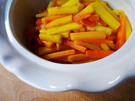 Glazed orange-cardamom carrots