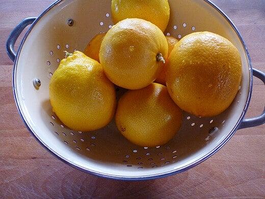 Wash and scrub your lemons thoroughly
